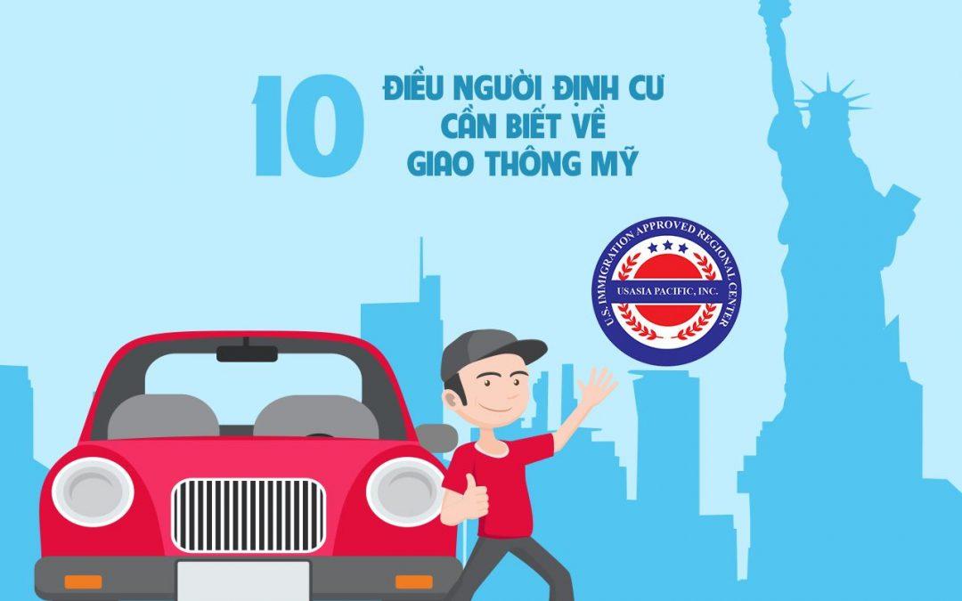 10 điều người định cư cần biết về giao thông Mỹ